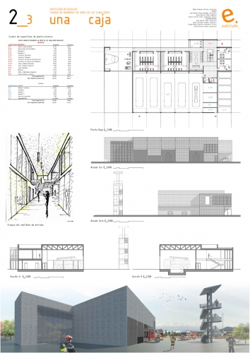 Fire Station in Jerez, Second Prize Competition